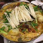 韓国田舎家庭料理 東光 - 牛骨ジャガイモ鍋