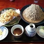 手打そば 邦昭 - 料理写真:冷たいかき揚げ蕎麦(大盛り)