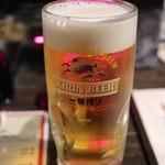 立呑みパラダイス - キリン一番搾り「極冷え生」(390円)