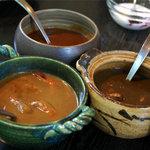 ガラムマサラ - ビーフ、えび、チキンカレー