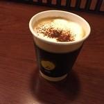 カフェ lx - カプチーノ  本格自家焙煎が楽しめるカフェとのことできました! 諫早でこんな遅くまでコーヒーが頂けるお店ができてよかったです。 お店も広々でくつろげます! カプチーノもおいしく頂きました (*´ڡ`●)