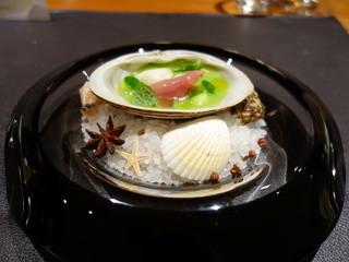 スリオラ - 北寄貝のサルサベルデ ミントの香り