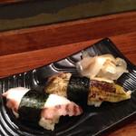 魚寿司 - 島タコ、穴子の握り