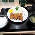 下町食堂中村橋 - カキフライ定食690円