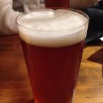 ビヤバタフライ - 呉吟醸ビール 大1000円。
