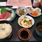 味波 - Aランチ(刺身定食)