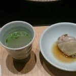 47018076 - 水炊きスープ(旨し)&かしわ