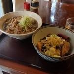 河北や - 「かぶり丼 肉そばセット (720円)」