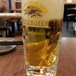 串かつ でんがな - 生ビールは一番搾り400円