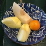 芭蕉庵 - セット〆の果物