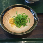 芭蕉庵 - 柚子皮と葱