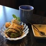 古民家カフェレストラン 初花 - 抹茶アイス