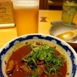 驛釜きしめん - 土手煮 480円(税別)