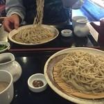 47025866 - くるみ蕎麦大盛り(麺の量1.5倍、300円増し)