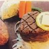 ほの字 - 料理写真:ほわほわハンブルグ&テンダーロインステーキ