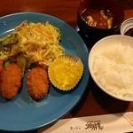 キッチン畑祚恵 - カニクリームコロッケ定食 1,750円