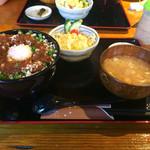 47035881 - 豚玉丼セット(大盛り)