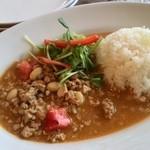 GREEN RATTAN - 挽き肉と大豆のレッドカレー