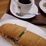 モリバコーヒー - 森のきのこと木の実サンド