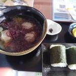 カフェ サンビャクサンジュウド - 料理写真:銚子名物、いわしのつみれ汁のセットランチ