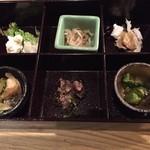 47043059 - 聖特製親子丼1380円・・・前菜