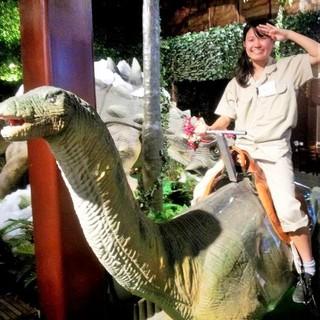 恐竜に乗れるイベントも♪