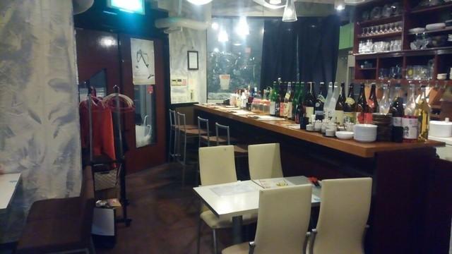 串揚げディップスカンナ - そこまでは洒落ていない店内。