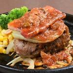 にんにく醤油の黒毛和牛[荒びき]ハンバーグステーキランチ
