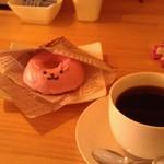 47050390 - H27/3うさぎの焼きドーナツとコーヒー
