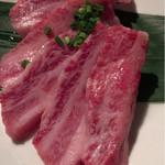 焼肉ロクマルBBQ - 黒毛和牛 上カルビ