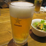 47053577 - ステーキにはビール