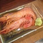 GABU - 赤海老の刺身  大きくて安い!!