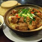 嚐囍煲仔小菜 - 料理写真:白鱔排骨飯+加雞蛋