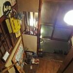 酒膳 久助 - 階段途中から玄関を見おろす