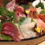魚や一丁 - 大漁舟盛り