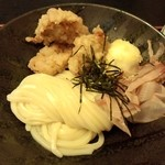 瀬戸内製麺710 - とり玉天ぶっかけ(H28,1,25)