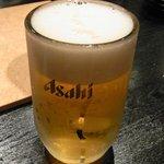 アシダヤ - 炭火焼肉ASHIDA YA 生ビール