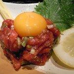 アシダヤ - 炭火焼肉ASHIDA YA 牛肉ユッケ