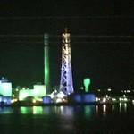 エグジット カフェ - 沖縄に数少ないライトアップ夜景が目の前に