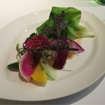 47065759 - 前菜【季節の野菜を使用したバーニャカウダソース】彩り豊かで野菜の味わいがまた良し♪