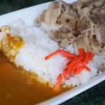 凱旋門 - 合いがけ(牛丼&カレー)