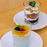 SEA DAYS - チアシード豆乳プディング、グラノーラヨーグルトパフェ