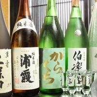 みなと寿司 - お酒は、日本酒・焼酎など豊富にご用意!