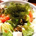 47075557 - コース:海ブドウと島豆腐のサラダ