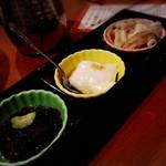 47075562 - コース:もずく酢/ジーマミー豆腐/ミミガーの和え物