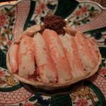 乙女寿司 - 2015年12月:香箱蟹…この後甲羅酒にしてくださいました