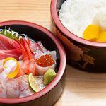 寿司海鮮 たはら - ◆ちらし (ネタとシャリの二段重)