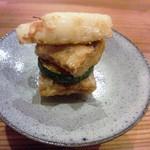 やまさん - 太刀魚の竜田揚げ 上質な太刀魚をレアに仕上げています