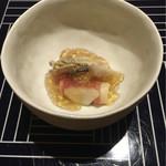 47080258 - 先付 ゴルゴンゾーラ豆腐の生ハム巻き
