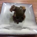 やまさん - 蒸し鮑の肝ソース 日本酒が進む逸品です